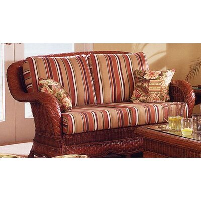 South Sea Rattan Autumn Morning Loveseat with Cushions