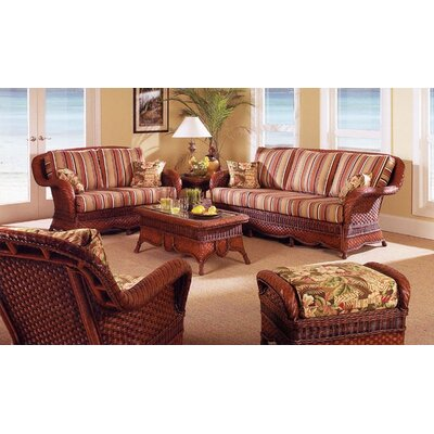 South Sea Rattan Autumn Morning Deep Seating Group with Cushions