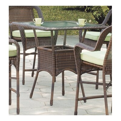 South Sea Rattan Key West High Wicker  Dining Table