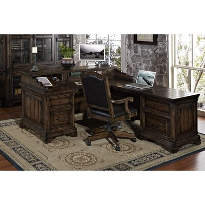 Strongson Furniture San Andorra Desk and Return with File Drawers