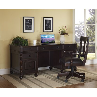 Barton Park Executive Desk with Keyboard Pullout