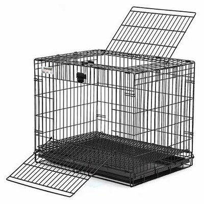 Midwest Homes For Pets Wabbitat Rabbit Cage in Black Electro Coat