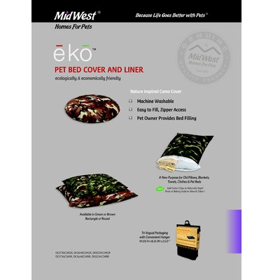 Midwest Homes For Pets Eko Round Camo Cover and Liner
