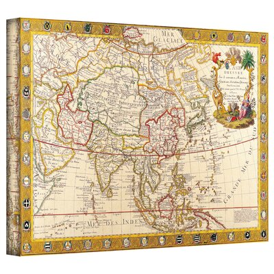 Art Wall Antique Maps 'Map of Asia' Gallery-Wrapped Canvas Wall Art