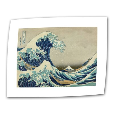 "Art Wall Katsushika Hokusai ""The Great Wave"" Canvas Wall Art"