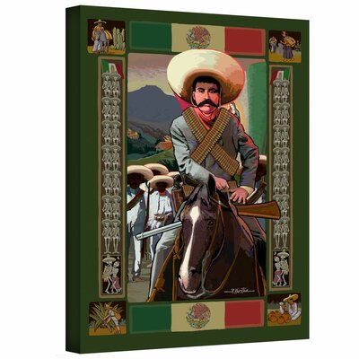 Art Wall Rick Kersten 'Zapata' Gallery-Wrapped Canvas Wall Art