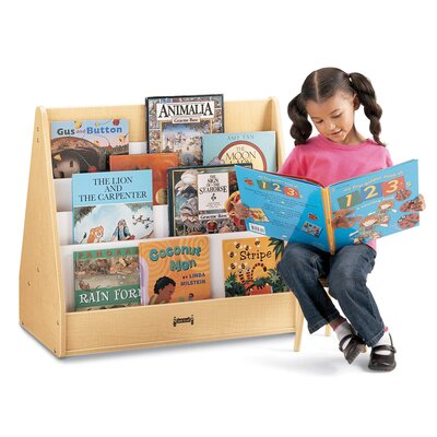 "Jonti-Craft 28"" H Multi Pick-a-Book Stand with Casters - 2 Sided"