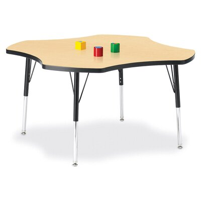 "Jonti-Craft KYDZ Toddler Height Activity Table- Four-Leaf (48"" Diameter)"