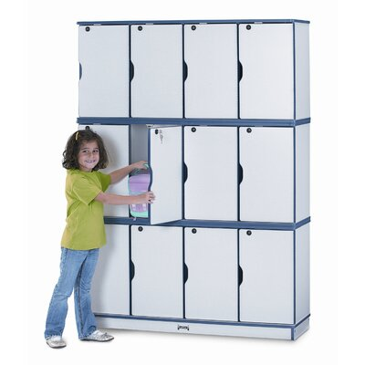 Jonti-Craft Four Sections Stacking Lockable Lockers