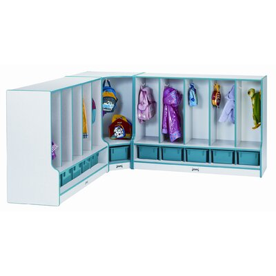 Jonti-Craft 5 Section Toddler Coat Locker with Step