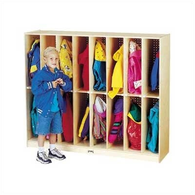 Jonti-Craft Twin Trim Lockers - 16 Sections