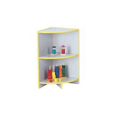 Jonti-Craft KYDZ Curves 29&quot; H Rainbow Accents Corner Bookcase