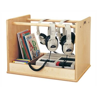 Jonti-Craft Audio Caddie Multimedia Tabletop Storage Rack