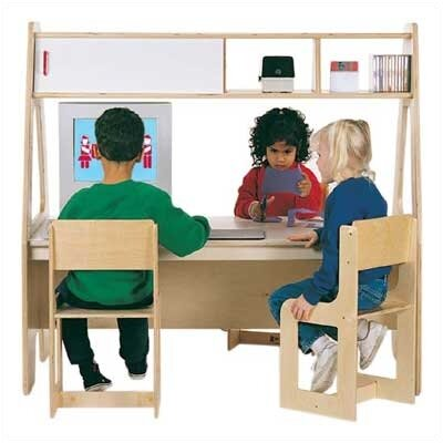 Jonti-Craft Twin Computer Desk Center