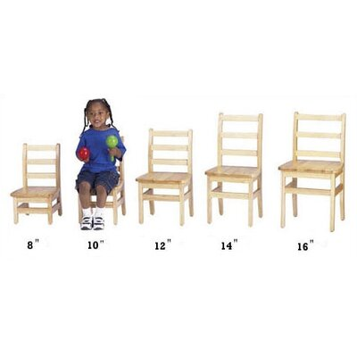 "Jonti-Craft KYDZ 10"" Wood Classroom Ladderback Chair (Set of 2)"