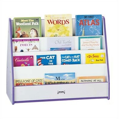 "Jonti-Craft 30"" H Rainbow Accents Mobile Pick-a-Book Stand - 2 Sided"