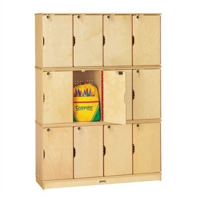 Jonti-Craft ThriftyKYDZ Triple Stack Lockable Lockers