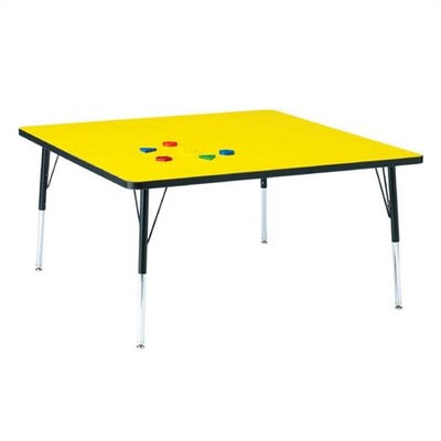 "Jonti-Craft KYDZ Toddler Height Activity Table- Square (48"" x 48"")"