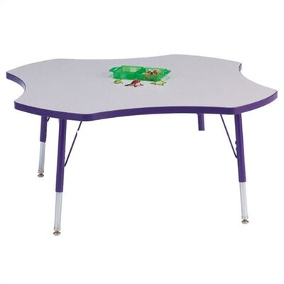 "Jonti-Craft Rainbow Accents KYDZ Toddler Height Activity Table- Four-Leaf (48"" Diameter)"