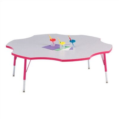 Jonti-Craft KYDZ Six Leaf Clover Activity Table (60&quot; Diameter)