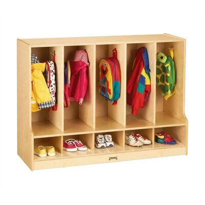 "Jonti-Craft KYDZ Toddler Coat Locker with Step - Rectangular (48"" x 17.5"")"