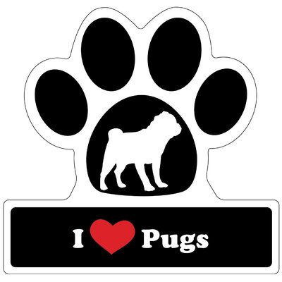 Little Gifts Pug Paw Car Magnet