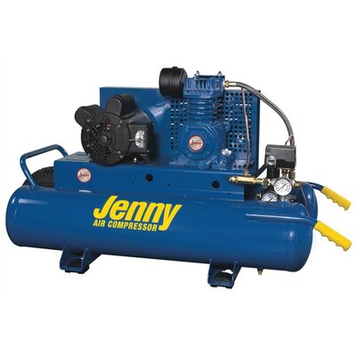 Jenny Products Inc 2 HP Electric 115/230 Volt Single Stage Wheeled Portable Air Compressor