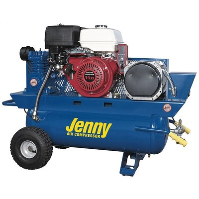 Jenny Products Inc 17 Gallon 11 HP 3000 Watt Gas Single Stage Special Portable Compressor/Generator