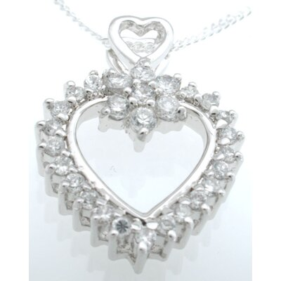 .925 Sterling Silver Fashion Heart Pendant