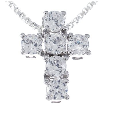 .925 Sterling Silver Fashion Cross Pendant