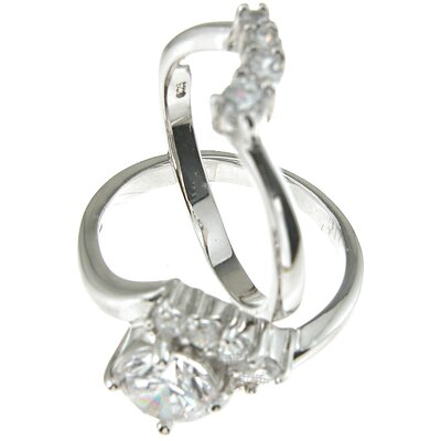 Plutus Partners .925 Sterling Silver Brilliant Cut Cubic Zirconia Solitaire Engagement Ring