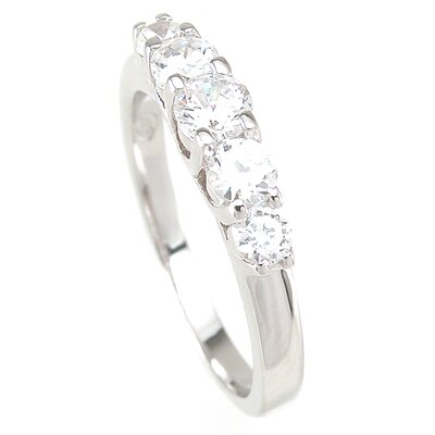 Plutus Partners 925 Sterling Silver Brilliant Cut Cubic Zirconia Ring