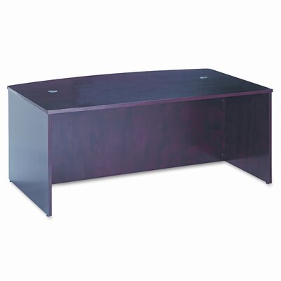 "HON 72"" W x 42"" D BW Veneer Series Bow Front Executive Desk Shell"