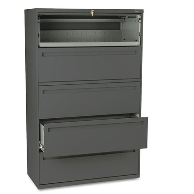 "HON 700 Series 42"" W Five-Drawer Lateral File"