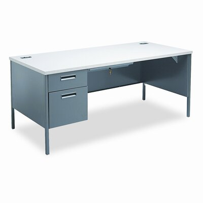 HON Metro Classic Computer Desk with Right Pedestal L-Workstation Computer Desk