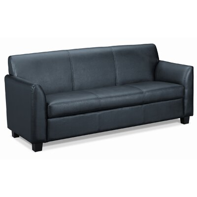 HON Basyx Tailored Leather Reception 3-Cushion Sofa