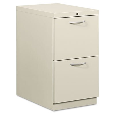 HON Flagship Mobile File/File Pedestal, Arch Pull, 22-7/8d, Light Gray