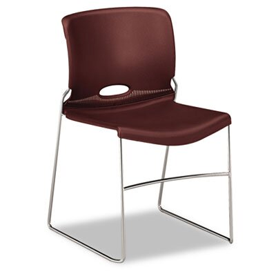 HON Olson Stacker Chair, Garnet, Four/Carton