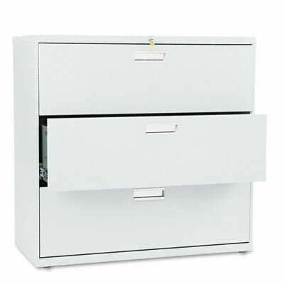 "HON 600 Series 42"" W Three-Drawer Lateral File"