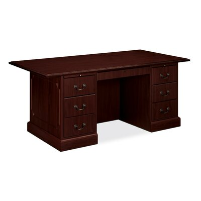 "HON 94000 Series Double Pedestal Desk, 72"" Wide"