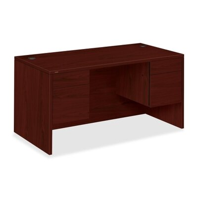 HON 10500 Series Double Pedestal Desk with Hutch