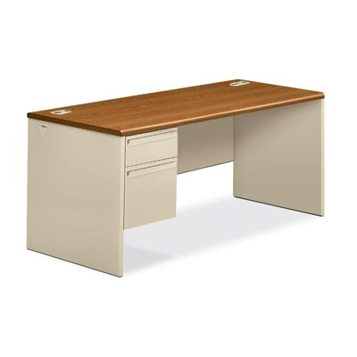 HON 38000 Series Computer Desk with Right Pedestal L-Workstation