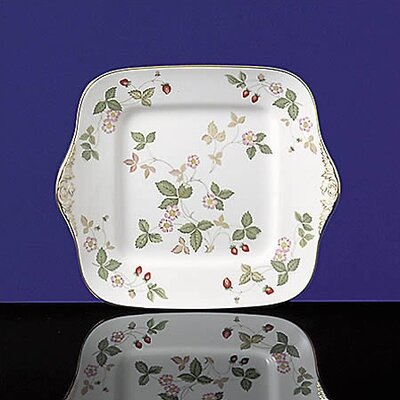 Wedgwood Wild Strawberry Square Cake Plate