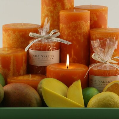Mill Valley Candleworks Mango Citrus Scented Pillar Candle