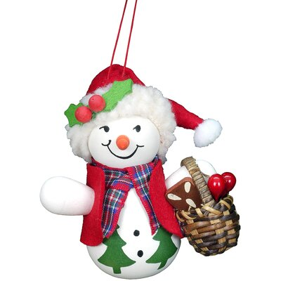 Christian Ulbricht Snowman with Basket Ornament