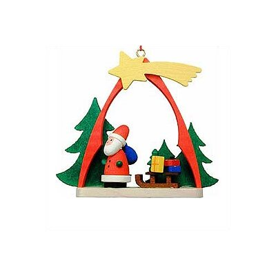 Christian Ulbricht Santa and Sled Arch Ornament