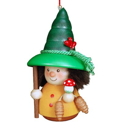 Christian Ulbricht Woodsman Mushroom Ornament