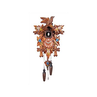 Black Forest Cuckoo Clock with Blue Flowers