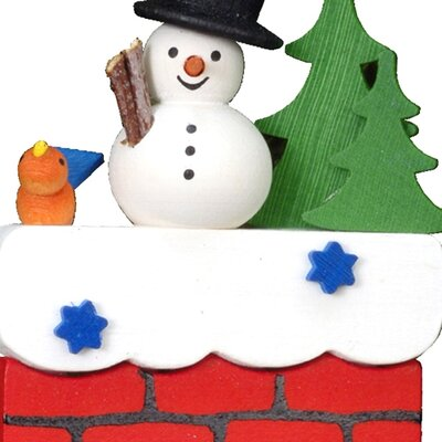 Alexander Taron Christian Ulbricht Snowman on Chimney Ornament