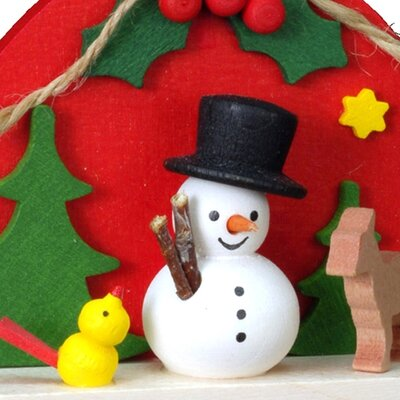 Alexander Taron Christian Ulbricht Red Sack with Snowman Ornament